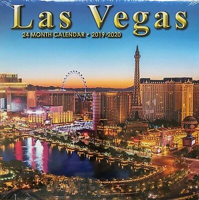 2019 2020 2 Year 24 Month Las Vegas Wall Calendar Flamingo MGM Circus Fremont