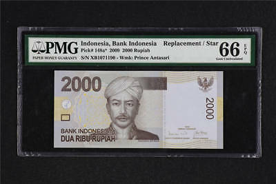 2009 Bank Indonesia 2000 Rupiah Pick#148a* PMG 66 EPQ Gem UNC  Replacement