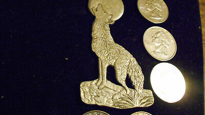 bling pewter logo WOLF mascot wild animal pendant charm hip hop necklace jewelry