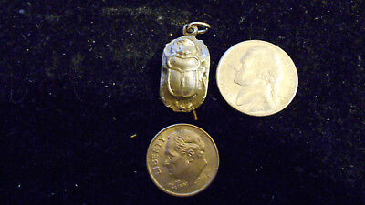 bling pewter myth legend egyptian scarab Charm Pendant hip hop Necklace jewelry