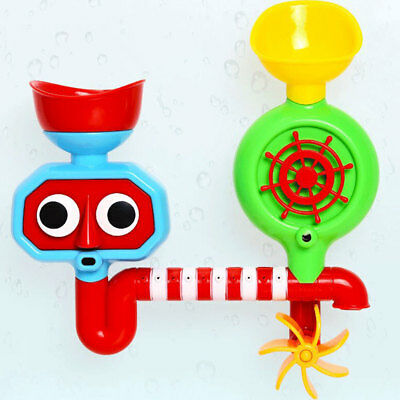 Baby Bath Toy Automated Spout And Spinning Suction Cup Gears Water Tap Kids Toy