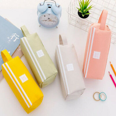 Simple Large-capacity Pencil Case Double-layer Pen Holder School Stationary BS