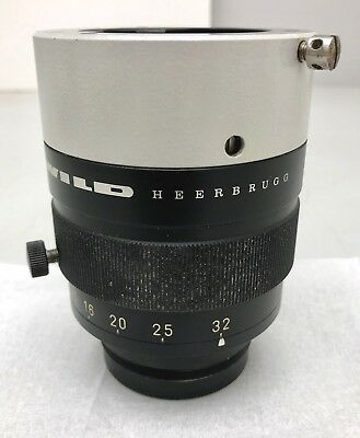 WILD Heerbrugg Makrozoom 1:5, 6.3-32x M400 Stereo Microscope Zoom objective lens