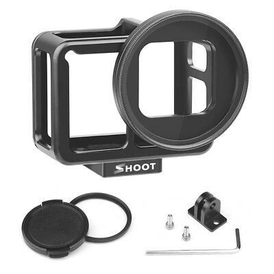 For Gopro Hero 7 Black Camera Protect Housing Cage Case 52mm UV Lens Filter X7R3