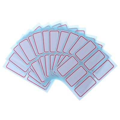 12 sheets self adhesive label Blank note label Bar sticky name stickers