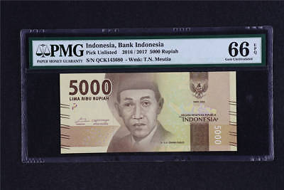 2016 / 2017 Indonesia Bank Indonesia 5000 Rupiah Pick Unlisted PMG 66 EPQ UNC