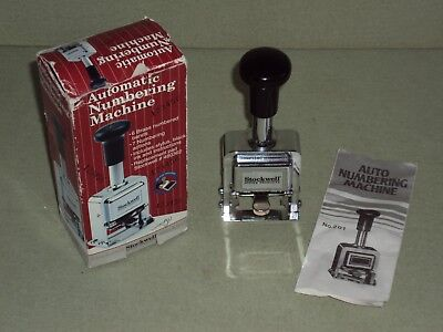 Stockwell 6 Wheel Automatic Numbering Machine in Original Box with Instructions