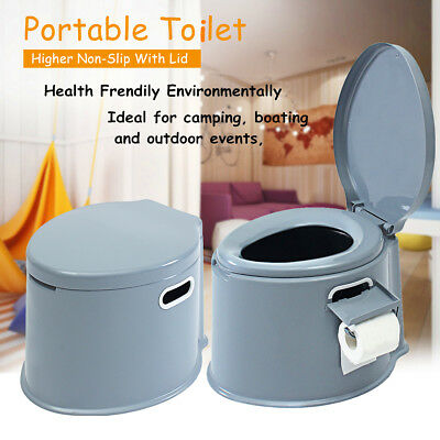 1.32-Gallon 5L Portable Toilet Flush Travel Camping Outdoor Indoor Potty Commode