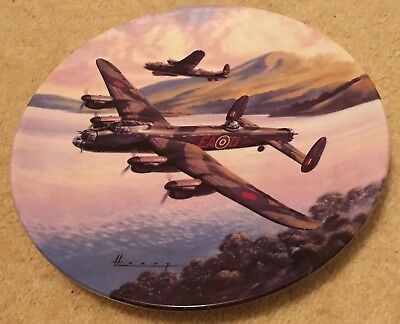 ROYAL WORCESTER plate, Prelude: Low Over the Lake, Limited, bone china, England