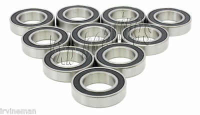 10 Radial Ball Bearings 6205 2RS Sealed 25mm/52mm 25x52