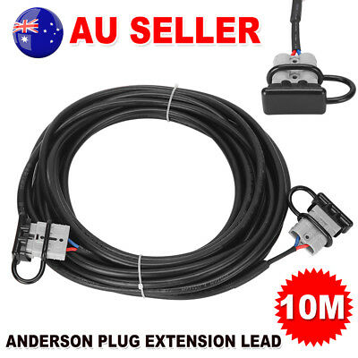 Ready to Use10m 50Amp Anderson Plug Extension Lead 6mm TwinCore Automotive Cable