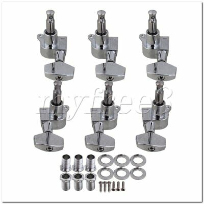 6Pieces Acoustic Guitar Tuning Pegs Tuners Machine Heads 3L3R for Guitar