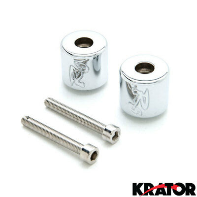 Custom Logo Silver Bar Ends Weights Sliders For Yamaha YZF R6 (2006-2012) YZF-R6