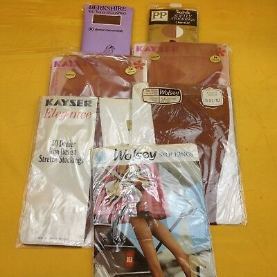 Small job lot of 7 packs of vintage seamed and seamless stockings #WBRICIC1