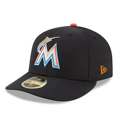 Miami Marlins New Era Low Profile MLB Prolight Fitted Cap Size - 7 3/8