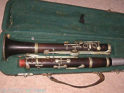"sehr alte B Klarinette ""G. ADOLF HAMMIG "" deutsches System old clarinet"