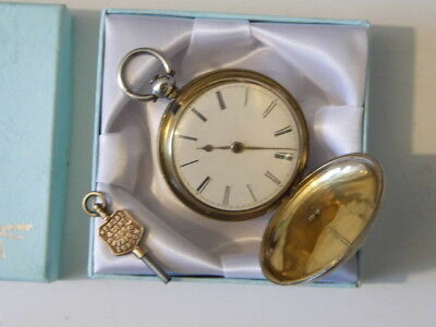 Beautiful Antique Hallmarked Silver VERGE FUSEE Hunter Pocket Watch Dated 1845.