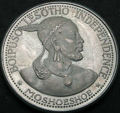LESOTHO 50 Licente 1966 Proof - Silver - Independence Attained - 2337 ¤