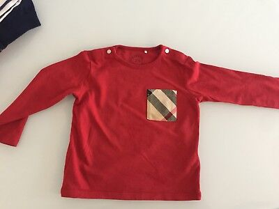 Unisex Long Sleeved Burberry Top 12-18 Months