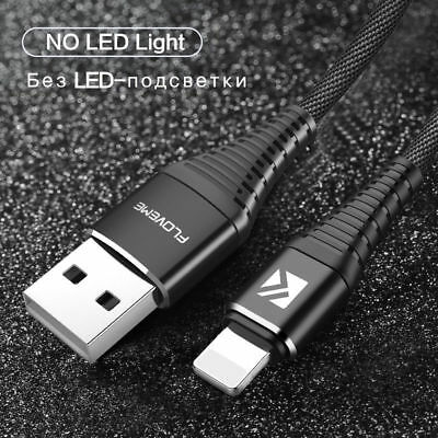 10PCS LED Light flowing Visible USB Charger Data Cable Cord For iPhone 8 7 6 LOT