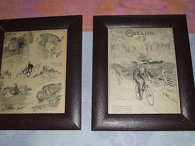 Pair Of Frank Patterson Framed Cycling Pictures.