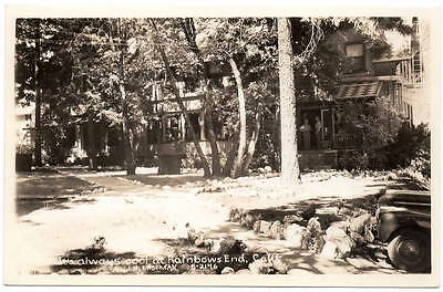 Real Photo Postcard Hotel or Building at Rainbows End, California~105836