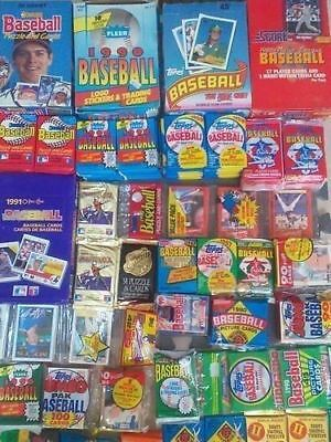 Lot of 400 Vintage BASEBALL Cards in Unopened Packs