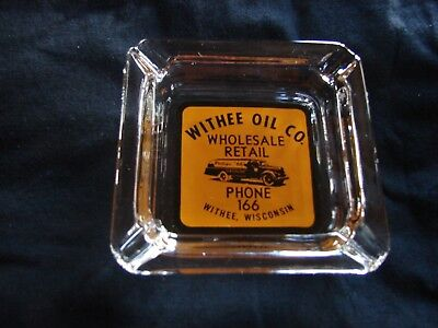 Gas & oil company collectible ash tray Phillips 66 Withee Wisconsin (NOS)