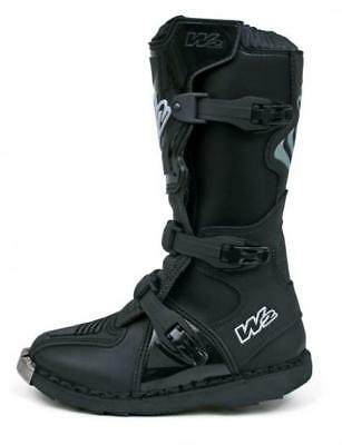 W2 400 MX Kids Youth  Boots Black Motocross Boots New!!