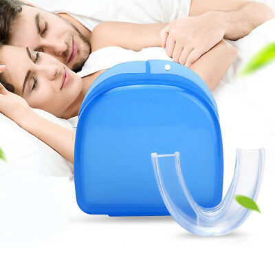 Safe Stop Anti Snoring Bruxism Tray Mouthpiece Apnea Mouth Guard Sleep Aid Hot