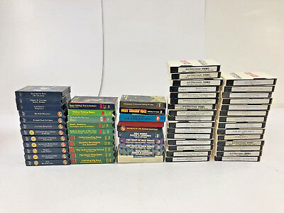 60+ Vintage FISHING VHS LOT instruction set angler Bill Dance Angling Edge guide