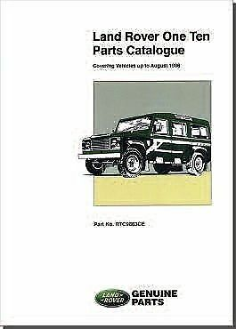 Land Rover Series 3 110 to 1986 Parts Catalogue RTC9863CE