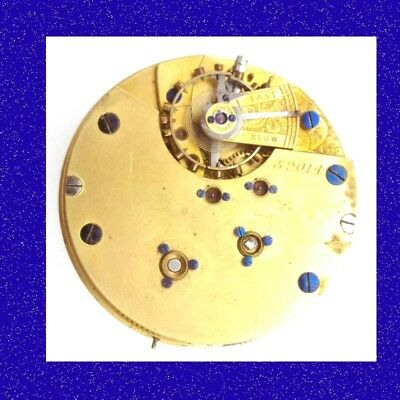 Coventry  21 Jewel Seconds Chronograph Fusee Watch Movement 1891