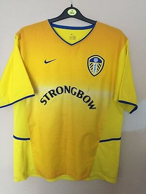 Leeds United Away Football Shirt 2002-2003 Nike *Size Large Adults