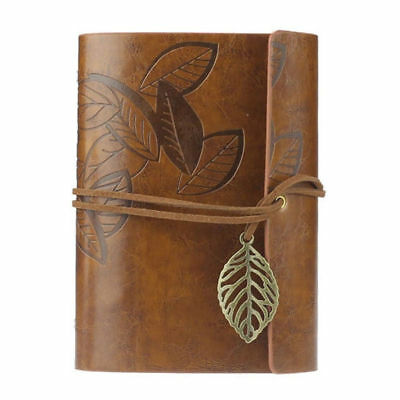 Leather Cover Notebook Vintage Blank Journal Retro Writing Diary Gift