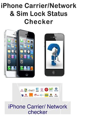 Iphone Any Model Sim Lock Status Iphone Carrier Network Check Information