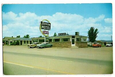 "El Reno Oklahoma 1959 ""beacon Motel & Cafe""--Photo By Baxter--Roadside View~~~"