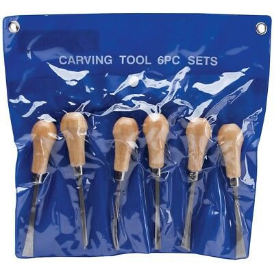 Palm-style Deluxe Woodcarving Tool Set-6/pkg