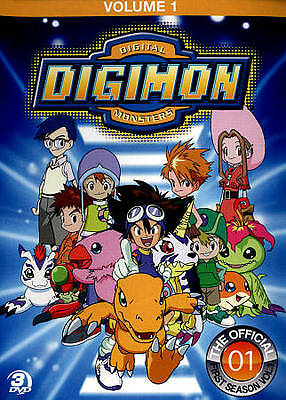 Digimon: Digital Monsters - The Offical First Season, Vol. 1 (DVD, 2012, 3-Disc…