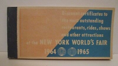 Vintage 1964 1965 Nywf New York Worlds Fair Coupon Booklet Discount Certificates