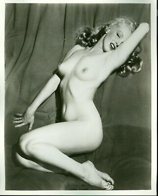 1950s NUDE WOMAN 8x10 B/W Photograph Artistic Classic Posed Blonde Beauty