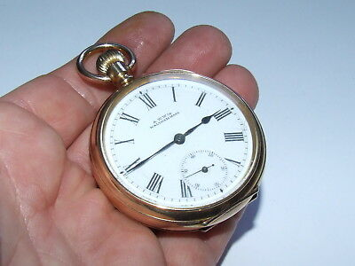 Outstanding, RARE Antique 1901 Waltham 10k Gold/F Gents Pocket Watch Beautiful!