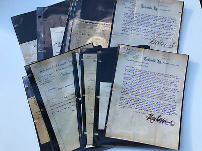 Stack of 1880's TELEPHONE COMPANY & WESTERN UNION Letterheads and Ephemera