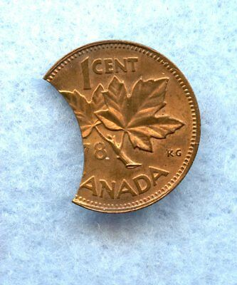 Canada  ~ (19)78 ~ Small Cent ~ Bu Red ~ Large Clip