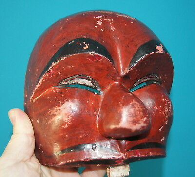 Fine Old Antique Indonesian Carved And Painted Wooden Topeng Mask Nr!