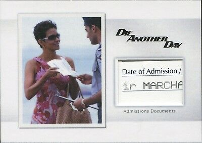 2017 James Bond Archives Final Edit. MR9 Admission Documents Relic Card 123/185