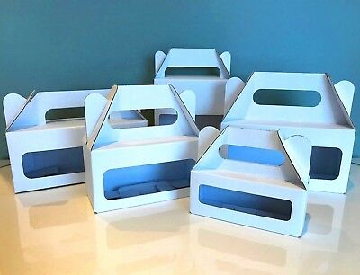 White Carry Gift Box  Bakery /Food //Party/ Celebration Box   Pk of 25   Die Cut