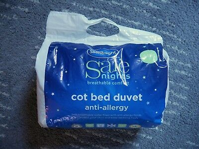 Silent Night 'safe nights' anti allergy breathable 4-tog cot bed duvet
