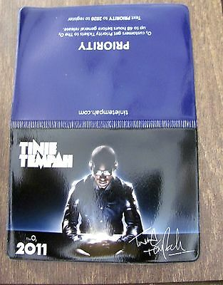 Tinie Tempah Disc-Overyuk Arena Tour 2011 Plastic Oyster/credit Card Holder