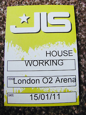 Jls Outta This World Tour 2011 Working Backstage Satin Pass